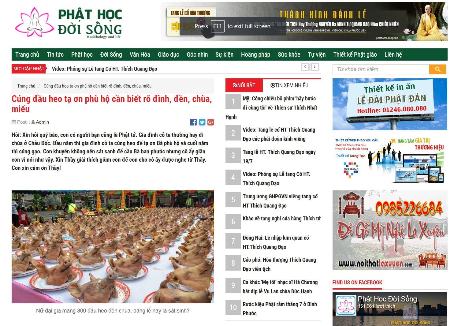 Phan hoi cua bao Phat Hoc Doi Song - minh chung 1